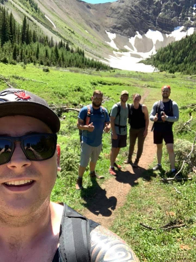 Cody Larsen - Hiking is a passion of mine. During summer months while I am not working or drawing, my friends and I will head out to the mountains to unwind.