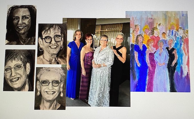 Heather MacPherson - My three sisters are my best friends,and have inspired numerous paintings.