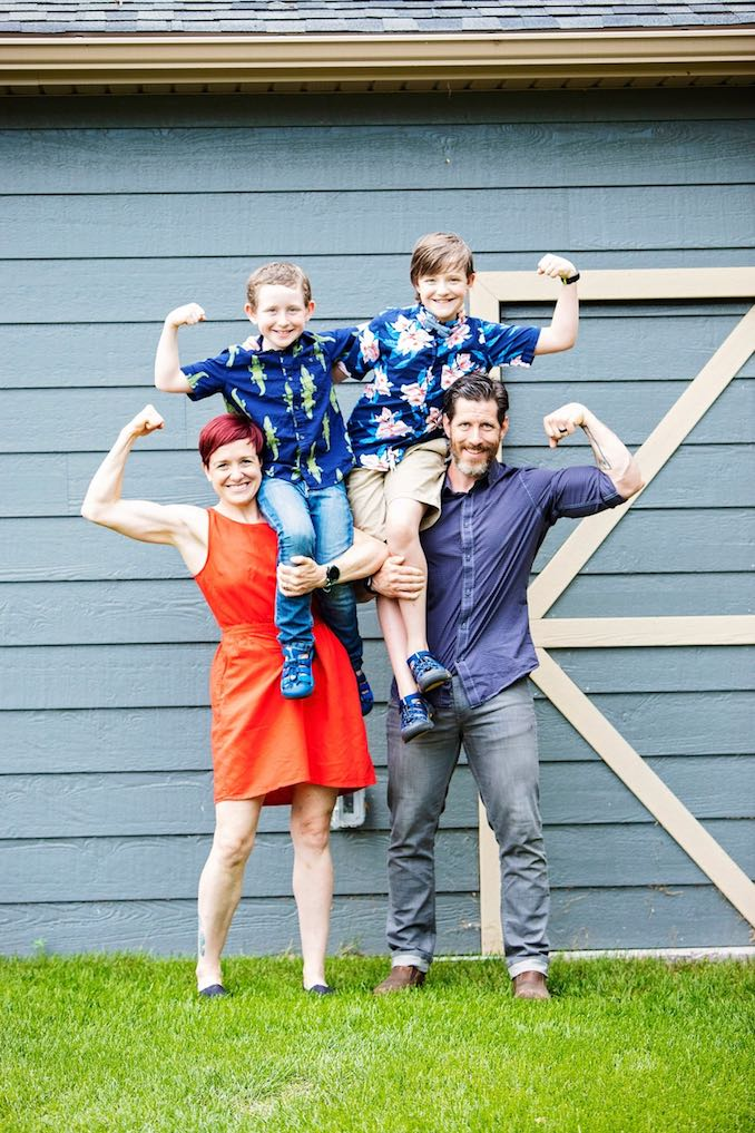 Chad Budyk - Fitness and health are important to us. You can sometimes find all four of us working out in our garage gym or hitting 'Murph' memorial workout at our home gym Trec Fit Lab.