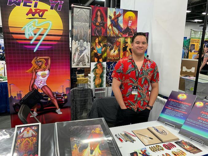 Benjamin Wei Yi Mark - Attending Artist Alley at the 2019 Edmonton Expo.