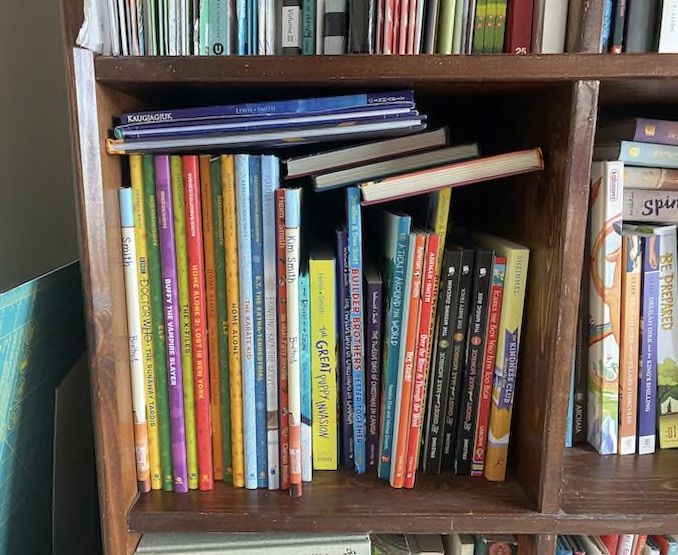 I keep a special section on my bookshelf for all the picture books I've illustrated (and written for Boxitects) so far. It makes me so proud to look at all my book babies in one place!