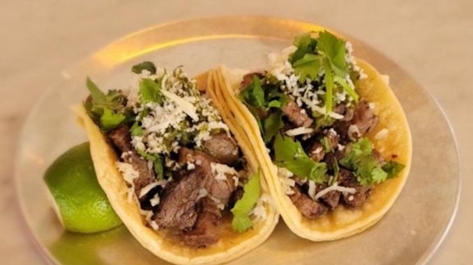 Carne Asada Tacos by Calgary Mexican Restaurant Calavera Cantina