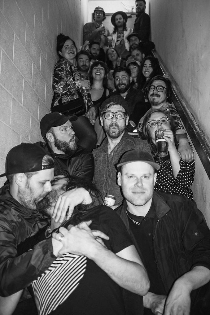 Broken City will forever be my home away from home and these folks are my chosen family. There's no one in this photo I wouldn't chop my arm off for and I love how this photo turned out in the back stairwell of the bar. This was after Orville Peck's show in 2019! This moment brings me so much joy