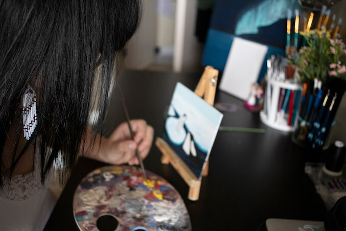 Tamara Eaker - I love painting, it's like my own form of meditation, where I can focus on the colors, the beautiful nature scenes, and usually a good audiobook or podcast.
