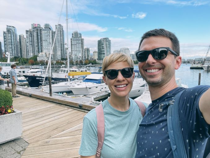Scott and Briar visiting Vancouver